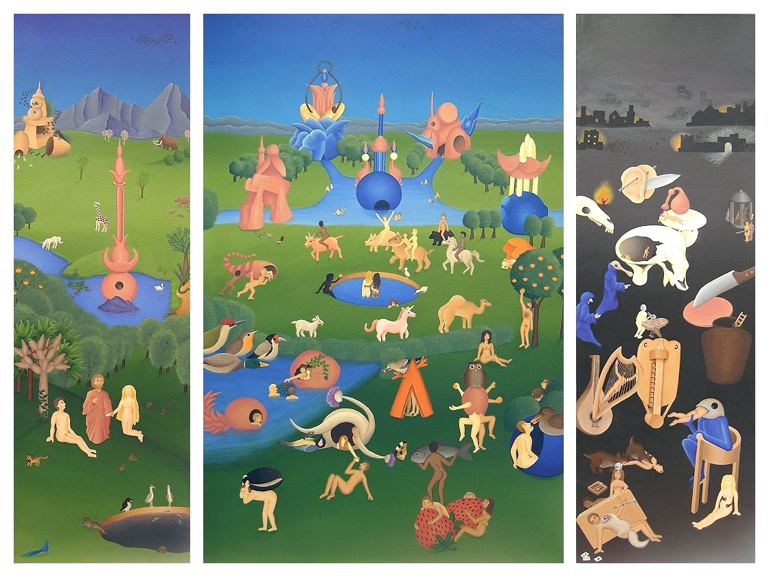 "A reimagining of the famous ""The Garden of Earthly Delights"" by Hieronymus Bosch"